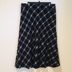 Talbots size 14 plaid wool maxi skirt fully lined